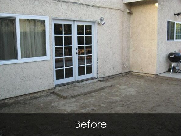 Residential Patio, Tile and Stucco - Before