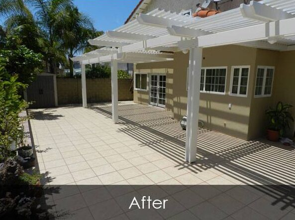 Residential Patio, Tile and Stucco - After