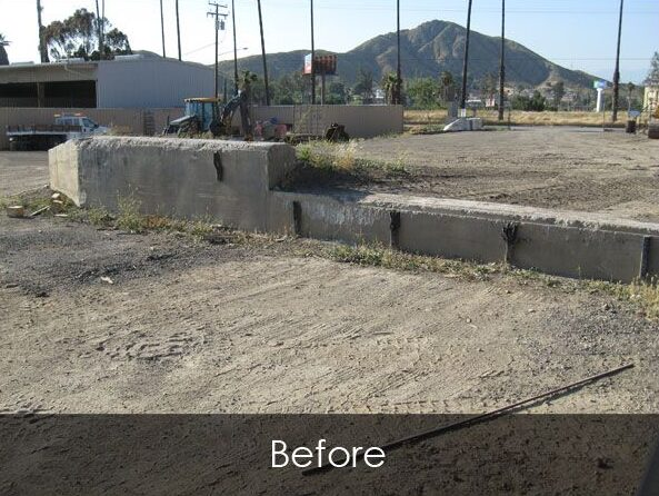 Commercial Loading Ramp - Before